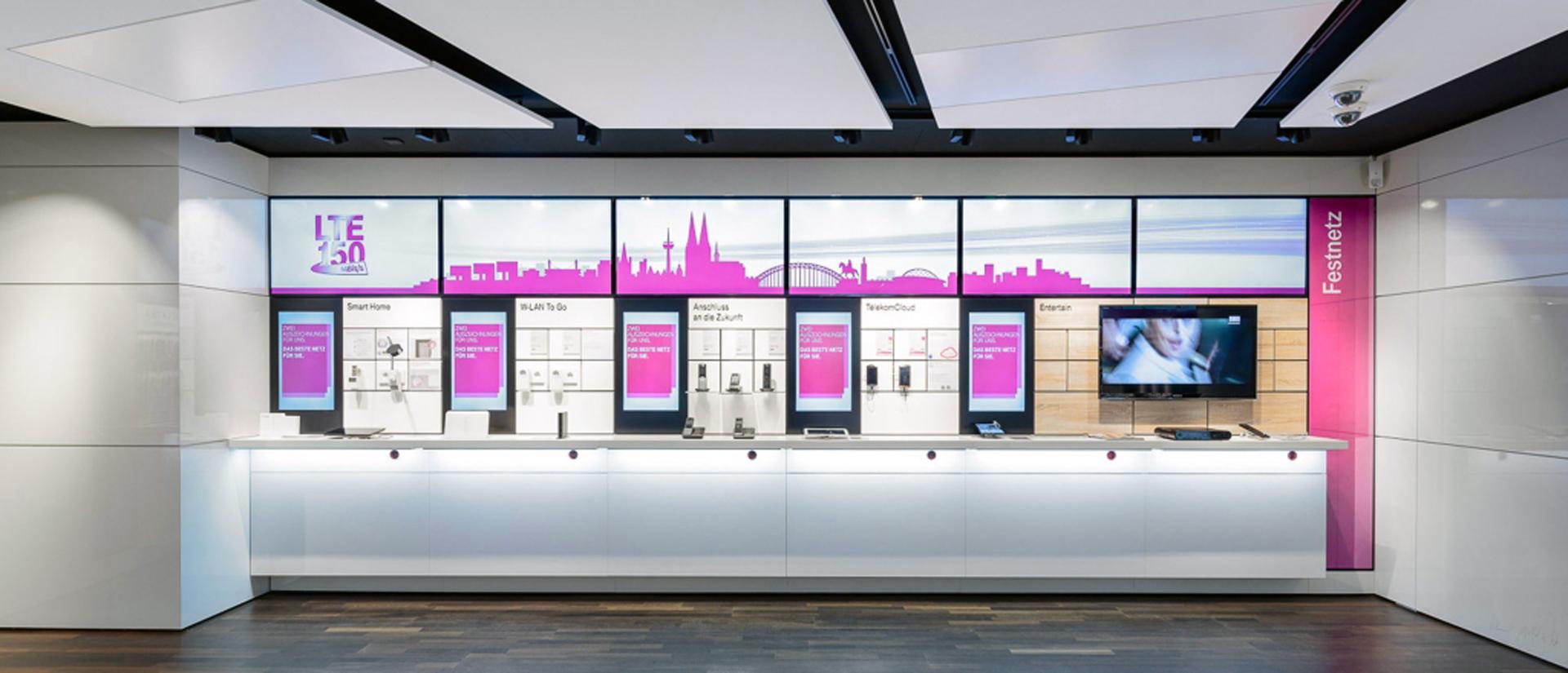 digital signage software telekom store