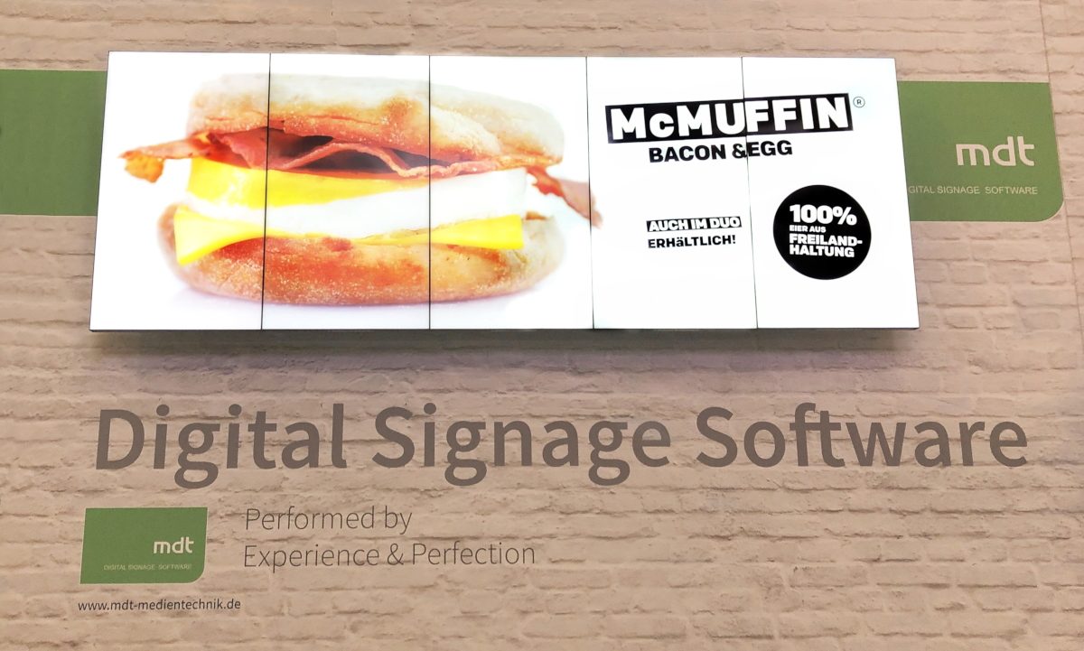MDT Digital Signage Synchronisation Menue Boards Integrated Systems Europe 2019 Amsterdam