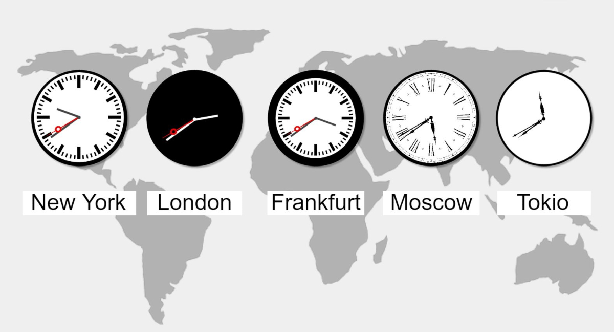 Weltuhren Digital Signage animierte Uhren designen