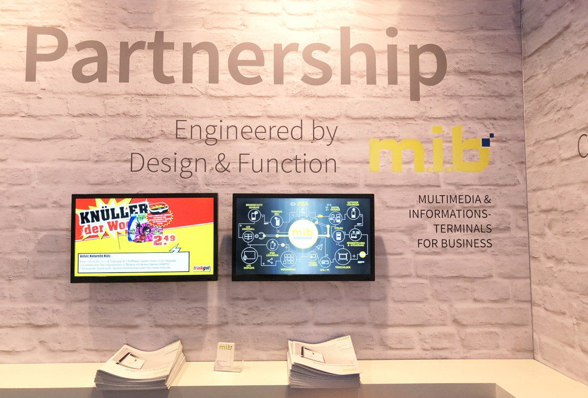 m.i.b. GmbH Multimedia und Informationsterminals Integrated Systems Europe 2019 Amsterdam