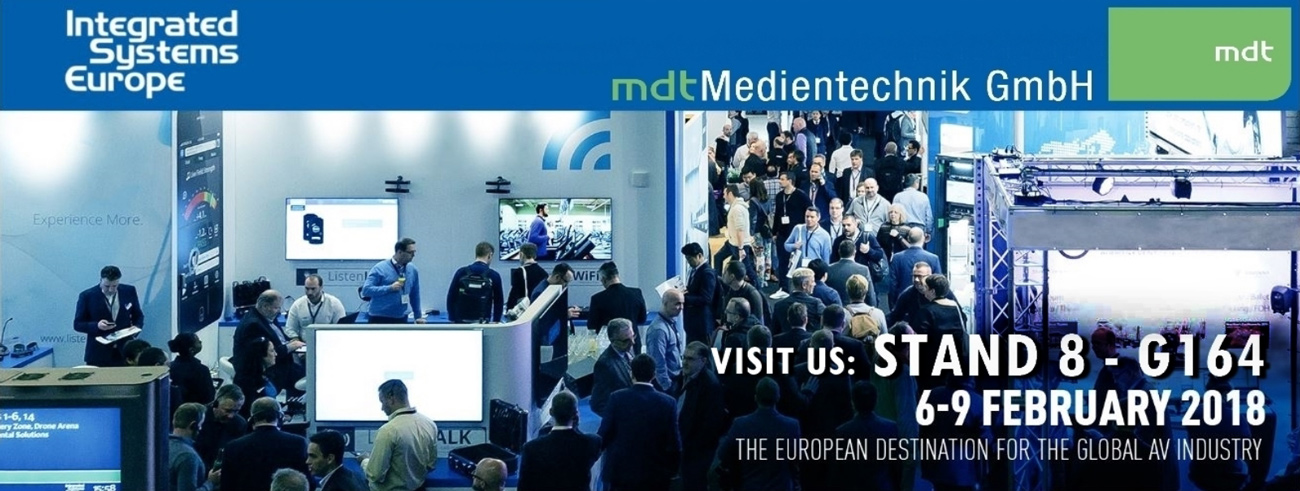 mdt medientechnik digital signage software ise 2018
