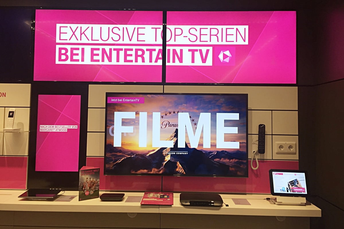 Filme Entertain Digital Signage im Deutsche Telekom AG Flagship Store