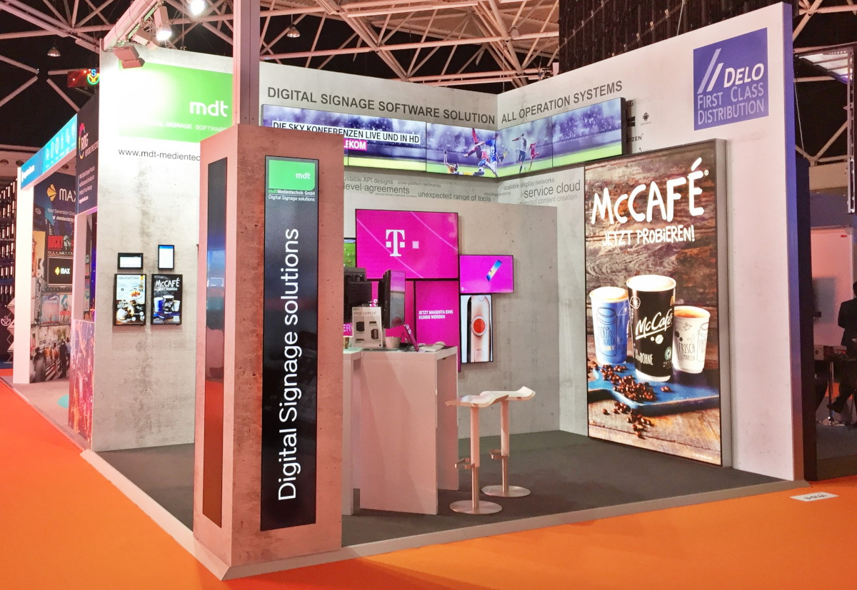 mdt Medientechnik Digital Signage Software Stand ISE 2018